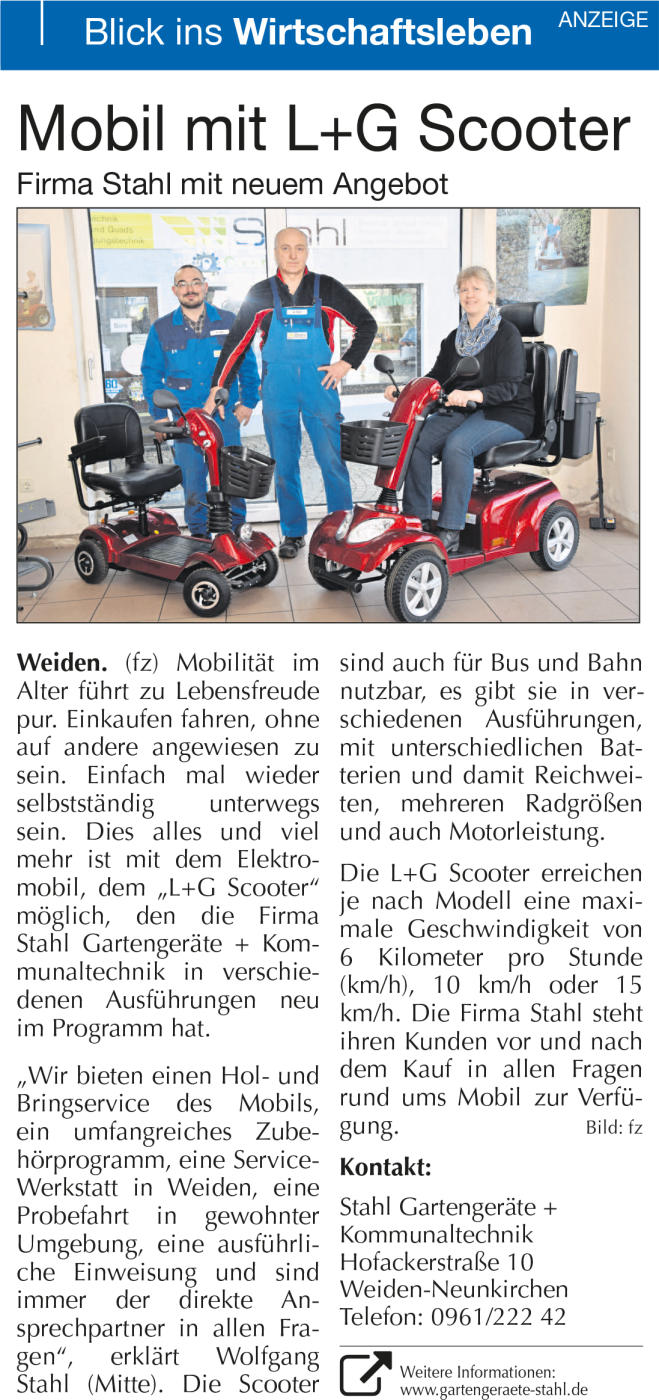 Mobil mit L+G Scooter